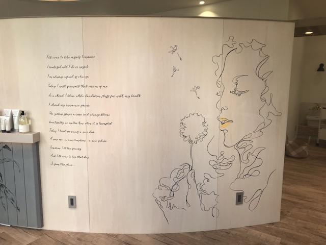 美容室の壁面